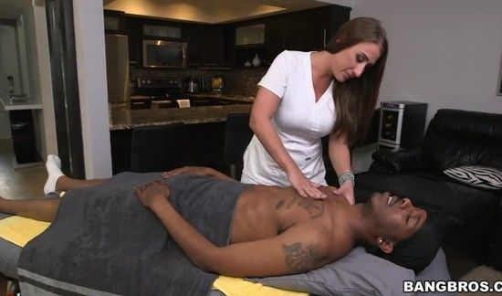 MonstersOfCock – Skyler Luv – Big Booty Masseuse Wrecked By Black Dick