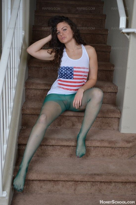 In pantyhose Emily